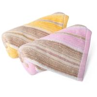 金号毛巾家纺GA1085纯棉吸水面巾红黄2条装