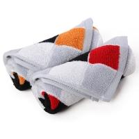 金号毛巾家纺GA1094纯棉吸水面巾桔红2条装