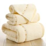 金號家紡 純棉緞檔圓點毛巾方巾浴巾3件套 4120
