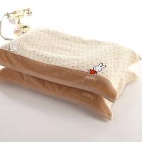 金號 床品家紡 米菲兔正品MF2029枕巾2條裝棕色