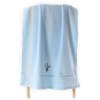 金号 毛巾家纺 无捻提缎绣浴巾G3307WH单条装蓝色