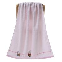 金号 毛巾家纺 米菲无捻提缎割绣浴巾MF3002WH单条装