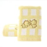 金号 毛巾家纺 无捻提缎绣毛巾4162WH两条装黄色