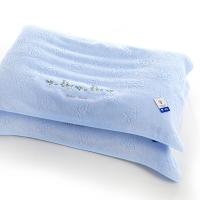 金号 毛巾家纺 赤金提素螺绣枕巾4201H两条装