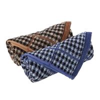金号 床品家纺 赤金小方格G1206纯棉毛巾2条装 兰棕色