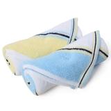 金号纯棉毛巾家纺吸水面巾G1782黄蓝2条装
