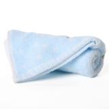 金号 纯棉家纺无捻纱提缎卡通儿童小毛巾蓝色单条装 E1171WH 48*25.5cm