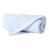 金号 纯棉毛巾家纺提缎面巾蓝色单条装 G1734