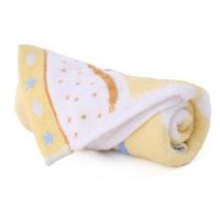 金号 纯棉家纺割绒卡通小毛巾黄色单条装 T1101 52*27cm