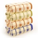 金号纯棉毛巾11030纯棉面巾蓝棕绿混色4条装