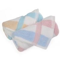 金號毛巾家紡GA1014W吸水面巾粉綠2條裝