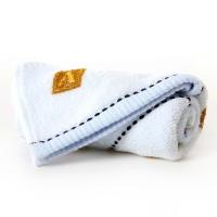 金号 纯棉家纺提缎卡通儿童毛巾蓝色单条装 E053 52*28cm