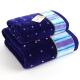 金号 床品家纺 舒特曼纯棉割绒S1057毛巾、浴巾组合 蓝色
