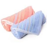 金号毛巾家纺GA1081纯棉吸水面巾蓝桔2条装
