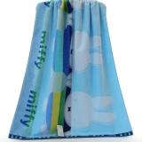 金号 床品家纺 米菲正品MF3046H蓝色纯棉割绒浴巾1条装