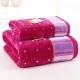 金号 床品家纺 舒特曼纯棉割绒S1057毛巾、浴巾组合 紫色