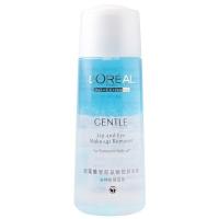 欧莱雅(LOREAL)轻柔唇部及眼部卸妆液 150ml (欧莱雅女士 温和无刺激 敏感肌肤适用)