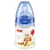 NUK宽口径迪士尼PP奶瓶150ml配防胀气奶嘴(1号硅胶中圆孔奶嘴)蓝色(图案随机)【德国品质】