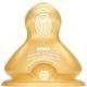 【德国进口】NUK宽口径奶嘴乳胶防胀气0-6个月十字孔(两枚装)