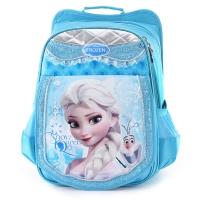 迪士尼(Disney)书包 小学生书包女童1-3-4年级冰雪奇缘减负双肩包儿童书包 20194 蓝色