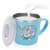 哆啦A梦(Doraemon)韩国儿童不锈钢水杯 宝宝饮水训练杯 婴儿餐具奶杯(便携带盖)