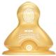 【德国进口】NUK宽口径奶嘴乳胶防胀气0-6个月小圆孔(两枚装)