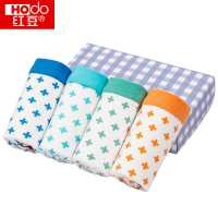 红豆(Hodo)男童内裤中大童A标4条盒装平角短裤K713 160/80