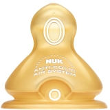 【德国进口】NUK宽口径奶嘴乳胶防胀气6-18个月中圆孔(两枚装)