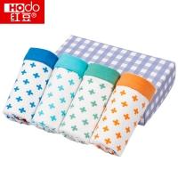 红豆(Hodo)男童内裤中大童A标4条盒装平角短裤K713 140/70