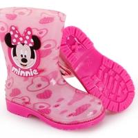 迪士尼 Disney 儿童雨鞋 男女童卡通防滑雨靴小孩胶鞋水鞋 15493 米妮粉37码/内长24.2cm