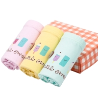 红豆(Hodo)女童内裤A类标准3条盒装短裤K730粉黄绿110/55