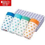 红豆(Hodo)男童内裤中大童A标4条盒装平角短裤K713 120/60