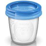 飞利浦新安怡 英国进口 AVENT 母乳/婴儿辅食储存杯组180ml SCF619/05