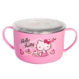 乐扣乐扣 HELLO KITTY 婴幼儿不锈钢儿童餐具 宝宝饭碗带盖 大汤碗LKT482