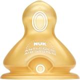 【德国进口】NUK宽口径奶嘴乳胶防胀气0-6个月中圆孔(两枚装)
