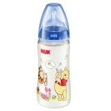 【德国品质】NUK宽口径迪士尼PP奶瓶300ml配防胀气奶嘴(1号硅胶中圆孔奶嘴)蓝色