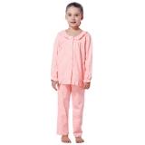 红豆(Hodo)儿童纯棉家居服套装女中大童卡通印花睡衣HD6J216粉红130