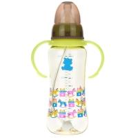 小白熊 标口新生儿奶瓶婴儿PPSU带吸管手柄防摔奶瓶280ml 09531