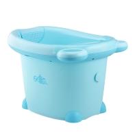 日康 儿童浴桶 宝宝洗澡盆 婴儿浴盆 适用于0-6岁 蓝色小熊 RK-X1001-1
