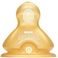 【德国进口】NUK宽口径奶嘴乳胶防胀气6-18个月小圆孔(两枚装)