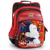 迪士尼(Disney)米奇减负双肩包3D儿童书包1-4年级 20123 米奇黑红