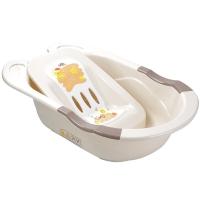 日康吉米婴儿浴盆RK-3626带躺板(颜色随机)