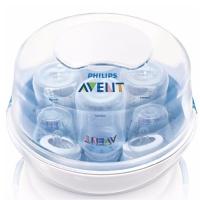 飞利浦新安怡 英国进口 AVENT 微波炉蒸汽奶瓶消毒锅SCF281/02配合全新自然原生系列奶瓶尺寸