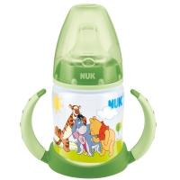 NUK宽口PP两用学饮杯150ml(装上奶嘴可作奶瓶)绿色(图案随机)【德国品质】
