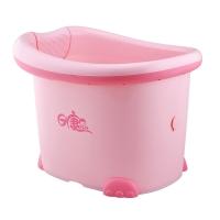 日康 儿童浴桶 宝宝洗澡盆 婴儿浴盆 加大 适用于0-12岁 粉色 RK-X1002-2