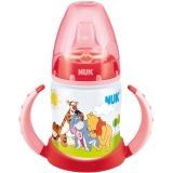 NUK宽口PP两用学饮杯150ml(装上奶嘴可作奶瓶)红色(图案随机)【德国品质】