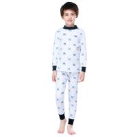 红豆(Hodo)纯棉内衣套装男中大童秋冬100%棉秋衣秋裤HD8085藏青C110