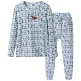 迪士尼 Disney 男童儿童白印灰舒木尔圆领长袖内衣套 28683D0 白印灰 160