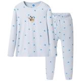 迪士尼 Disney 男童儿童天使蓝舒木尔圆领长袖内衣套 28685D0 天使蓝 120
