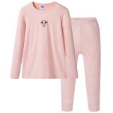 迪士尼 Disney 女童儿童冰橙舒木尔圆领长袖内衣套 28718D0 冰橙 110